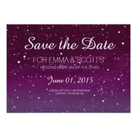 "Wedding under the stars Save the Date PINK 5"" X 7"" Invitation Card"