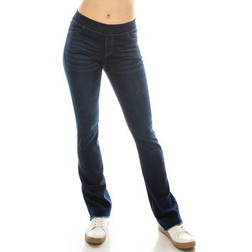 The Bianca Boot Cut Denim Jegging - Dark Denim