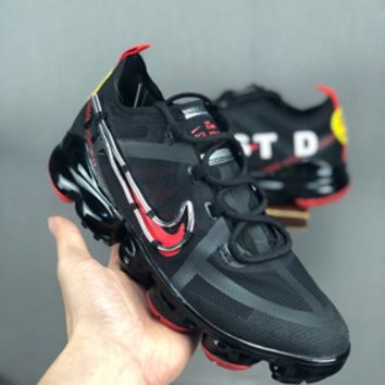 HCXX 19July 656 CACTUS PLANT FLEA MARKET X NIKE AIR VAPORMAX 2019 CD7001 Fashion Breathable Running Shoes black red