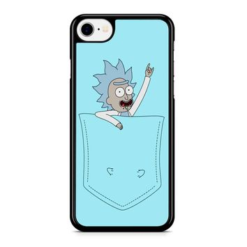 Tiny Rick Pocket Buddy iPhone 8 Case