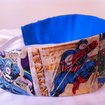 Captain America Reversible Fabric Headband Marvel by StylishGeek