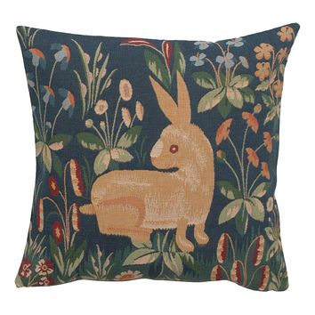 Medieval Rabbit French Cushion