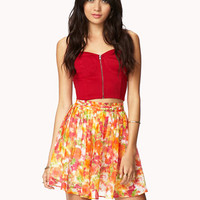 Essential Pleated Floral Skirt