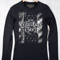 Juniors Country Girl ® Stars and Stripes Long Sleeve Tee