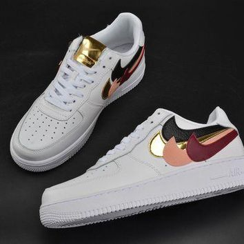 PEAPONVX Jacklish John Geiger X Nike Air Force 1 Af1 Low Misplaced Checks Glittered In Gold For Sale