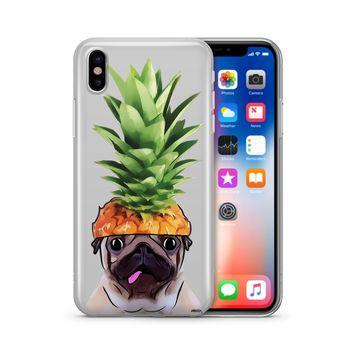 Pineapple Pug - Clear Case Cover Phone Case