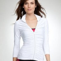 Ruched Funnel Jacket - BEBE SPORT $69.00