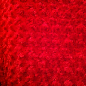 Accent-Decorative Body Pillow Cover- Free US Shipping-Approx 17 1/2 X 49 inch Red Swirl Fur-Minky Cuddle Rose-Perfect for College-Dorm