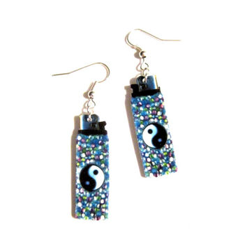 lighter earrings, grunge, hipster jewelry, hipster fashion