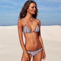 Sexy New Arrival Hot Summer Beach Swimsuit Ladies Swimwear Stripes Trendy Bikini [167719895055]