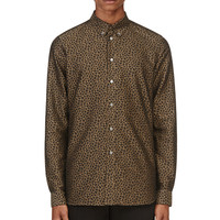 Paul Smith Umber Leopard Print Shirt