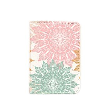 Floral Mandala Passport Holder -Leather Passport Cover - Vintage Passport Wallet - Travel Accessory Gift - Travel Wallet for Women and Men_LOKISHOP