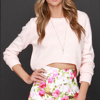 Snake in the Garden Pink Floral Print Shorts