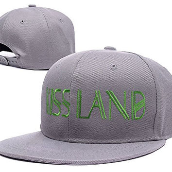 ZZZB The Weeknd Kiss Land Logo Adjustable Snapback Embroidery Hats Caps - Grey