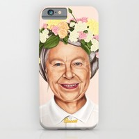 Hipstory - Queen Elizabeth iPhone & iPod Case by Amit Shimoni