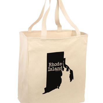 Rhode Island - United States Shape Large Grocery Tote Bag by TooLoud