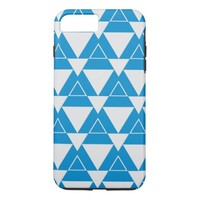 blue and white Triangle pattern iPhone 8 Plus/7 Plus Case