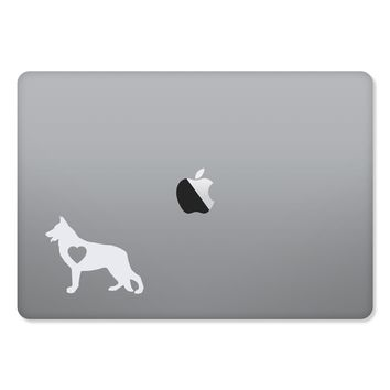 German Shepherd Love Sticker for MacBooks and Apple Devices