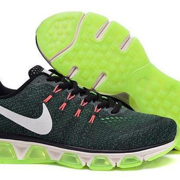 PEAPON3V Nike Air Max Tailwind 8 Grey, Green, Black  & White Sport Running Shoes For Men