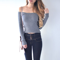 Hailey Off Shoulder Thick Knit Pullover