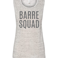 Barre Squad Muscle Tank White Marble by jCUBEDk