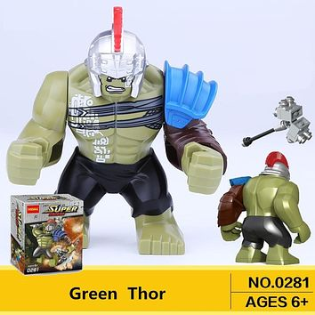Single Sale Big Hulk Action Dolls Marvel Super heroes Newest Thor Movie legoingly Building Blocks Toys For Children gift XH654