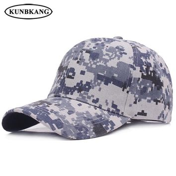 Trendy Winter Jacket New Camo Baseball Cap Men Women Summer Army Tactical Sun Dad Hat Cotton Bone Outdoor Leisure Camouflage Snapback Trucker Caps AT_92_12