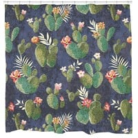Cactus Flower Bathroom Fun Shower Curtain