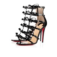 Girlistrappi 100 Black Patent Leather - Women Shoes - Christian Louboutin