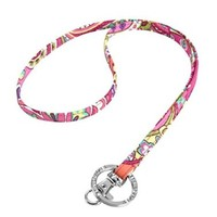 Vera Bradley Women Fashion Lanyard (Pink Swirls)