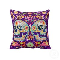 Sugar Skulls Pillow from Zazzle.com