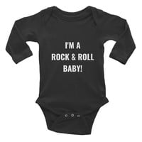 'Rock And Roll Baby' Infant Long Sleeve Onesuit