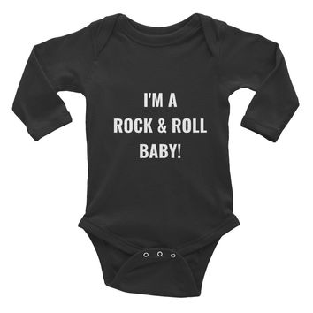 I'M A ROCK & ROLL BABY!' Infant Long Slv Onsie