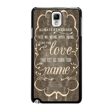 THE AVETT BROTHERS QUOTES Samsung Galaxy Note 3 Case Cover