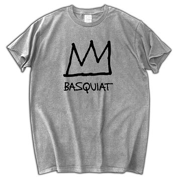 clothing fashion Basquiat Crown male top tees summer style cotton casual T-shirt