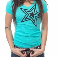 Dirty Couture Womens Tahiti Blue w/ Black Star