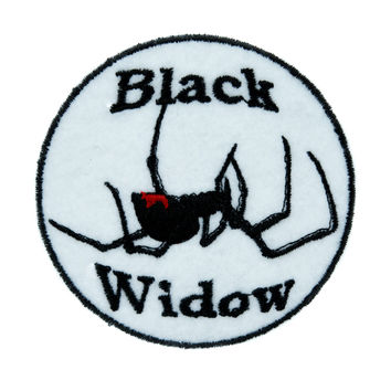 Black Widow Spider Patch Iron on Applique Alternative Clothing Deathrock Rockabilly