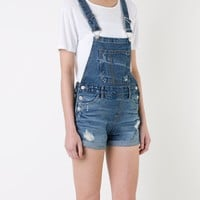 Guild Prime Distressed Short Overalls - Loveless - Farfetch.com