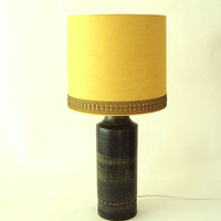 Table lamp by Bitossi for Bergboms of Sweden, Mid Century Modern Table-lamp base in dark forest tones ,