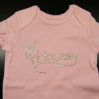 """Infant - Princess Baby """"Bling"""" Onesuit"""