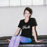 Fuck Retro Boho Typography Women's T-Shirt