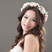 1Pc New Fashion Bohemian Style Wreath Flower Crown Wedding Garland Forehead Hair Head Band Beach Wreath
