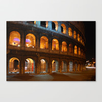 Colosseum - Rome, Italy Stretched Canvas by Claude Gariepy