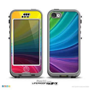 The Neon Colored Swirled Skin for the iPhone 5c nüüd LifeProof Case