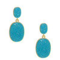 Kate Spade Pave The Way Statement Earrings Turquoise ONE