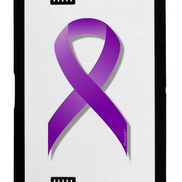 Epilepsy Awareness Ribbon - Purple Black Jazz Kindle Fire HD Cover by TooLoud