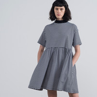 LO Basics Stripey Oversized T-shirt Dress - LO Basics - Featured - Womens