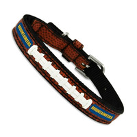 GameWear NCAA Football Leather Dog Collar — West Virginia University Mountaineers