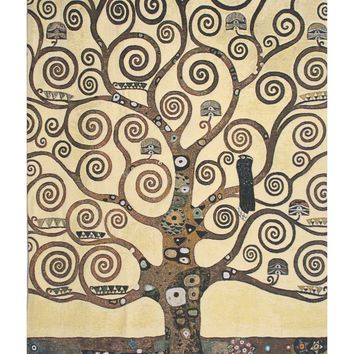 Lebensbaum Klimt Tree of Life Belgian Tapestry Wall Art