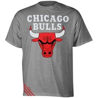 adidas Chicago Bulls Original Big Stripes Tri-Blend T-Shirt - Ash
